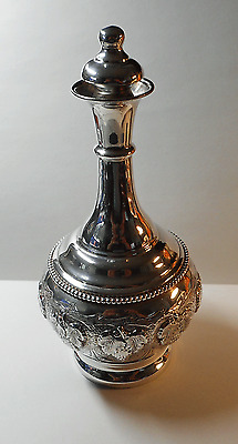 A Vintage Sterling Silver Wine Decanter