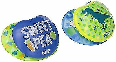 NUK Small Talk Big Button Pacifier , 0-6 Months Boys 4 count