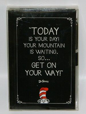 """Dr. Seuss """"Today is Your Day!"""" Journal & Pen Set Cat in the Hat Gibson Markings"""