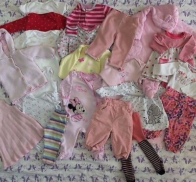 HUGE BABY GIRL CLOTHES BUNDLE 3-6 MONTHS 23 Items Ted Baker M&S Mothercare More