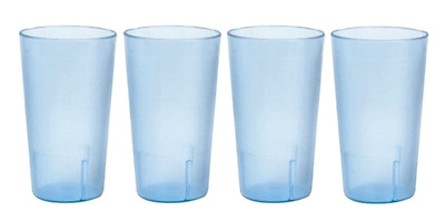 Restaurant Tumbler Beverage Break Resistant Stackable Cups Set of 4 32 Ounces