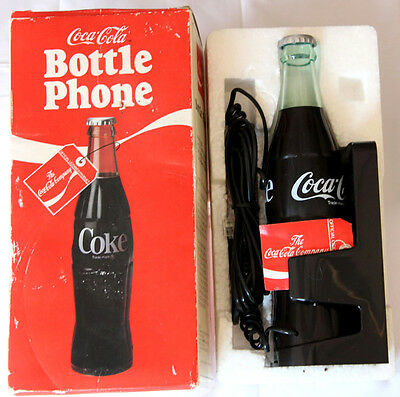 1983 Original Coca-Cola Official  Bottle Phone Model 5000 NIB Coke Collectible