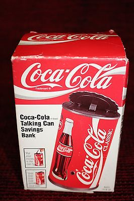 Coca Cola 1997 Talking Savings Coin Bank Original