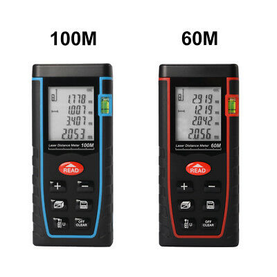 Handheld Digital Laser Point Distance Meter Measure Tape Range Finder 60m/100m