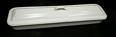 Vintage Enamel Disinfecting Sterilization Tray Medical With Lid