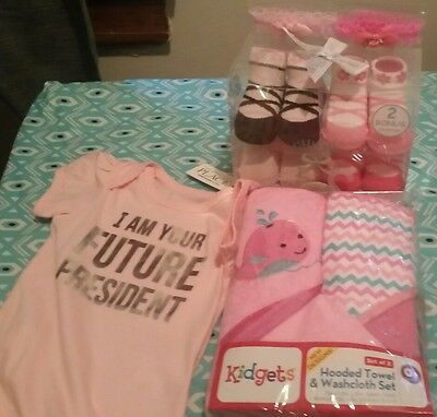 New small baby girl bundle items/baby shower gift