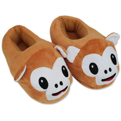 Cute Monkey Slippers Plush Cotton Comfortable Indoor Shoes (One Size) US Seller