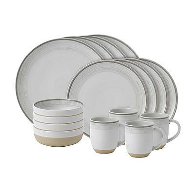 NEW Royal Doulton Ellen Degeneres Glaze White Set 16pce Dinner Set - Great offer