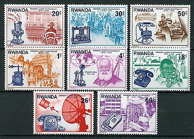 Rwanda 1976 MNH Telephone Cent Graham Bell 8v Set Science & Invention Stamps