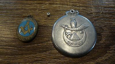 RARE! 1912 Odd Fellows Supreme Orient ID Sliding Locket/Medal! OOH & P Xerxes