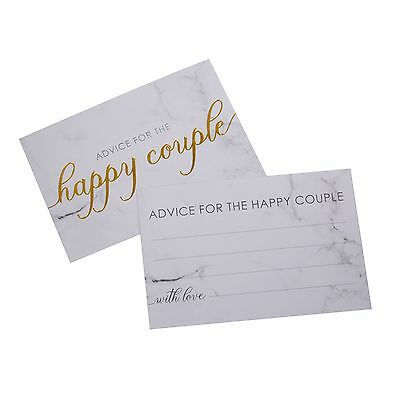 25 WEDDING WISH CARDS Alternative Guest Book SCRIPTED MARBLE Use with Post Box