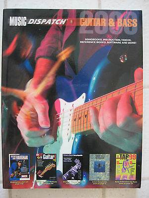 2000 MUSIC DISPATCH GUITAR & BASS Catalog Book Songbook Video Reference Software