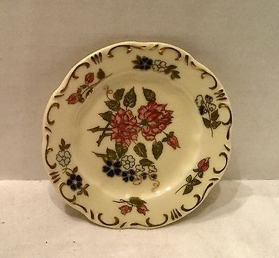 Zsolnay Hungary butter pat, Or Miniature Plate  Hand Painted 3 1/4 Rd