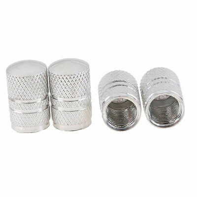 4X Tire Wheel Rims Stem Air Valve Caps Tyre Cover Car Truck Bike Silver Aluminum