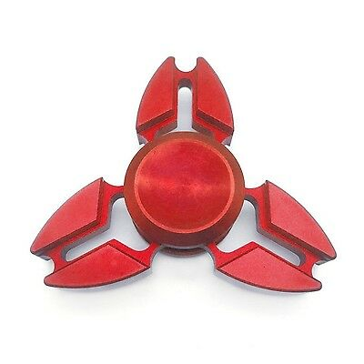 RED CRAB/STAR Fidget Metal Hand Spinner Stress Anxiety Relief Toys Tri Spins ADD