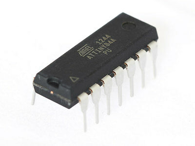 10 PCS ATtiny84A-PU ATTINY84 MCU 8BIT 8KB PDIP14 ATMEL - SHIPPED FROM USA