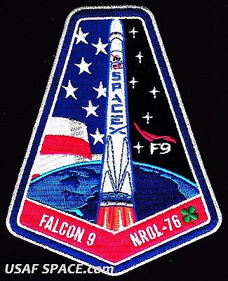 NEW NROL-76 - SPACEX ORIGINAL FALCON 9 - NRO CLASSIFIED SATELLITE Mission PATCH