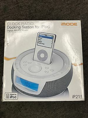 iMODE Clock Radio Docking Station for iPOD, Model iP215, w/4 SIZES OF CONNECTOR