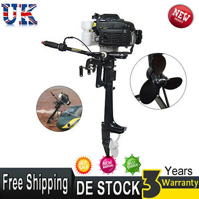 4HP 4 Stroke Outboard Boat Motor Fishing Boat Engine Propeller CDI Air Cooling