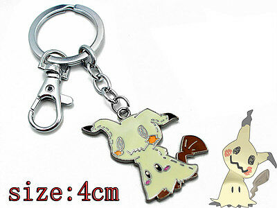 Pokémon SunMoon Mimikyu Keychain Key Rings Metal Pendant New Kids Gift