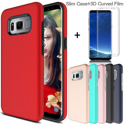 For Samsung Galaxy S8/ S8 Plus Slim Hybrid Case Cover+3D Shield Screen Protector