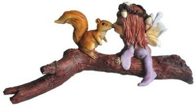 Fairy and squirrel on branch - Top Collection Fairy Garden
