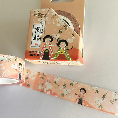 Washi Tape Kyoto Series Under The Cherry Blossom 15Mm X 7Mtr Plan Craft Wrap