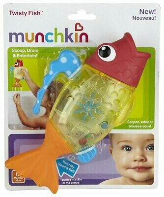 Munchkin Twisty Fish Bath Toy Childrens Kids