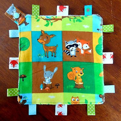 Fox & Friends Mini Size TaGgie Security Blanket Toy comforter dummy clip holder