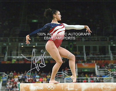 LAURIE HERNANDEZ SIGNED 2016 RIO OLYMPICS GOLD MEDAL USA GYMNAST 8x10 PHOTO COA