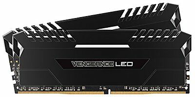 Corsair Vengeance LED Kit di Memoria RAM da 16 GB, 2x8 GB, DDR4, 3000 MHz