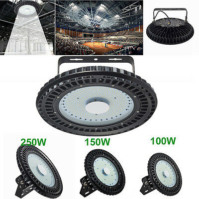 100W 150W 250W UFO LED High Bay Light Factory Warehouse Gym Roof Shed Lighting