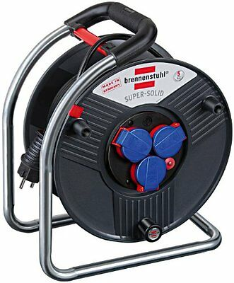 Brennenstuhl 40m H07RN-F 3G2,5 - power extensions (Black, Multicolour) (w8X)