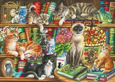 Gibsons Puss in Books Puzzle, 1000 Pezzi (s7F)