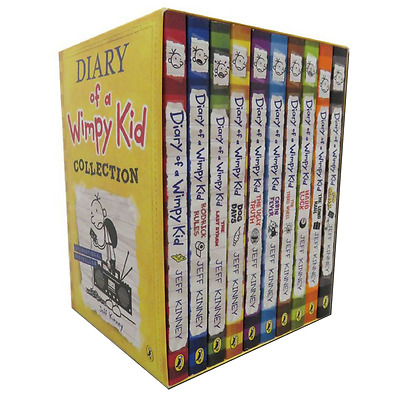Diary of a Wimpy Kid Box Set - 10 Book Collection by Jeff Kinney (Paperback)