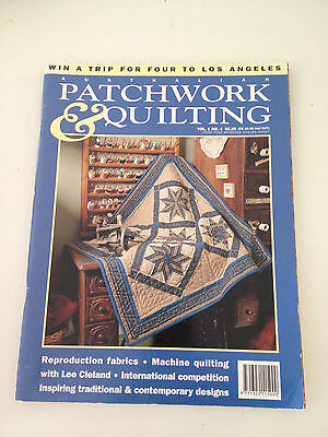 Australian Patchwork & Quilting Vol 1, No 4 Magazine With Patterns Inside