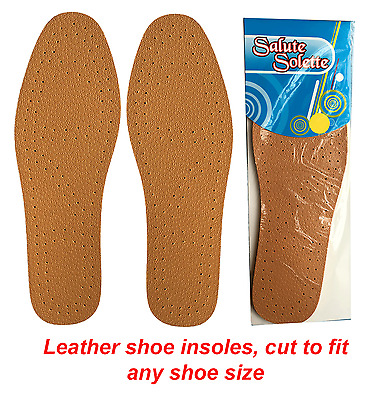 Leather Insoles Ultra Comfortable Cut To Size Unisex Shoe Inner Soles