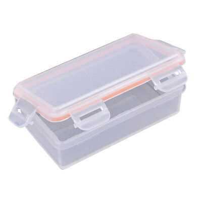Outdoor Waterproof Battery Storage Box Case fr 2x 18650 battery Transparent K9S9