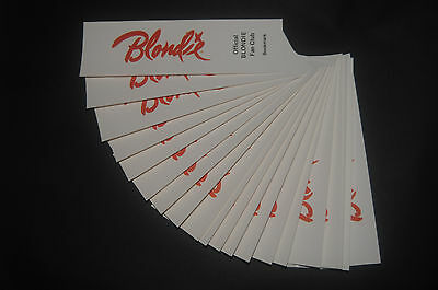 20x 1979 Vintage Official Blondie Fan Club bookmarks Debbie Harry Deborah Harry