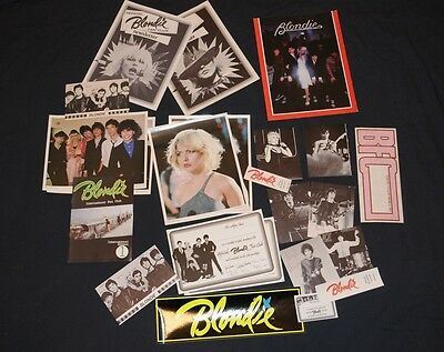 Rare 1979 Official Blondie Fan Pack Debbie Harry 23 items Collectors lot Deborah