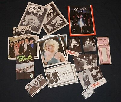Rare 1979 Official Blondie Fan Pack Debbie Harry 22 items Collectors lot Deborah