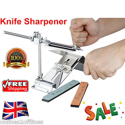 Professional Kitchen Sharpening Knife Sharpener System Fix-angle 4 Stones Kit