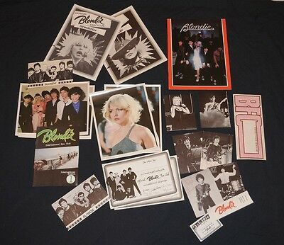 Rare 1979 Official Blondie Fan Pack Debbie Harry 21 items Collectors lot Deborah