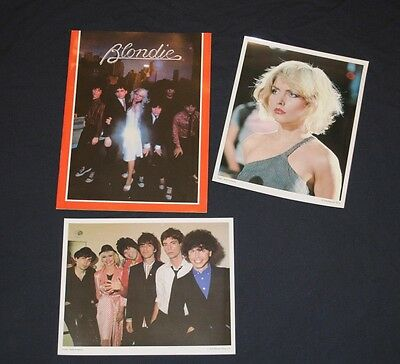 1979 Blondie Fan Club tour program + Debbie Harry picture Deborah + Group photo