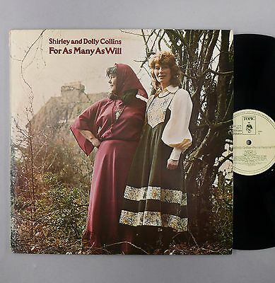 """Shirley & Dolly Collins - For As Many As Will - EX - UK 12"""" Vinyl - 12TS380"""