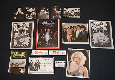 Damaged Lot 1979 Official Blondie Fan Club Debbie Harry 15 items Deborah