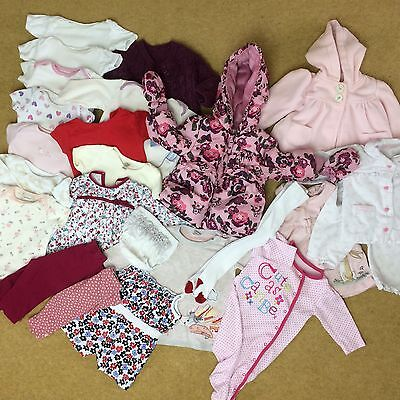 HUGE BABY GIRL CLOTHES BUNDLE 3-6 MONTHS 23 Items Baby M&Co TU Early Days More