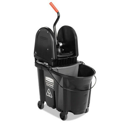 Rubbermaid 35 Qt. Executive WaveBrake Down-Press Mop Bucket (Black) 1863898 NEW