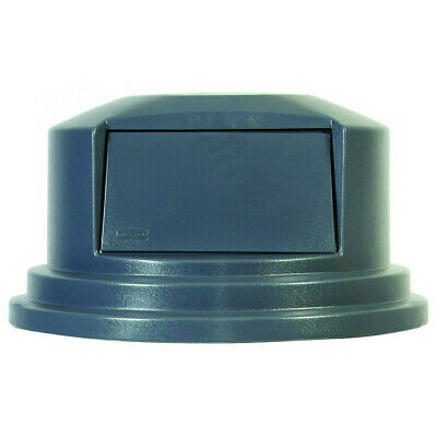 """Rubbermaid Dome Top Receptacle (Gray) for 27-1/4"""" Brute Containers 265788GY NEW"""
