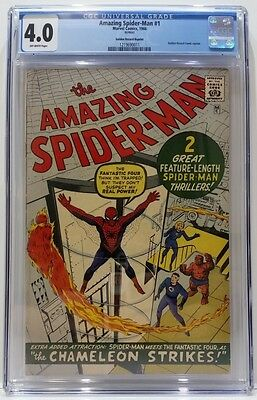 The Amazing Spider-Man #1 1966 Golden Record Reprint CGC Graded 4.0 OW Pages